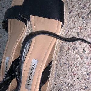 Steve Madden Shoes - black and tan steve madden sandal